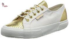 Superga 2750 Cotleasnakeu, Baskets Basses Mixte Adulte, Mehrfarbig (White Gold), 41 EU - Chaussures superga (*Partner-Link)