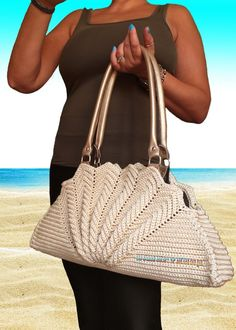 """New Cheap Bags. The location where building and construction meets style, beaded crochet is the act of using beads to decorate crocheted products. """"Crochet"""" is derived fro Free Crochet Bag, Crochet Tote, Crochet Handbags, Crochet Purses, Bead Crochet, Leather Drawstring Bags, Leather Pouch, Butterfly Bags, Unique Bags"""