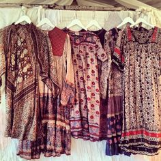 These remind me of my mom  aunt in the 70's  me in the 90's. Happy they are cool once more: Bohemian dresses.