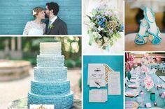 Decoración de boda en scuba blue. #Tendencias2015