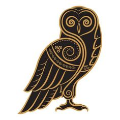 Illustration of Owl hand-drawn in Celtic style, isolated on white, vector illustration vector art, clipart and stock vectors. Owl Vector, Vector Art, Art Clipart, Graphic Pattern, Celtic Animals, Geometric Nature, Owl Illustration, Owl Tattoo Design, Celtic Tattoos
