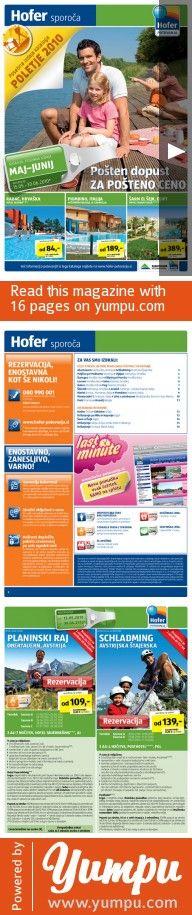 Hofer potovanja: poletni katalog - Magazine with 16 pages:
