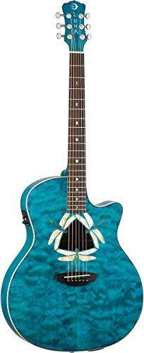Luna Fauna Series Dragonfly Quilted Maple Cutaway Acoustic-Electric Guitar - Transparent Teal Luna http://www.amazon.com/dp/B003EH2PRC/ref=cm_sw_r_pi_dp_U2Pnub17S3HYX