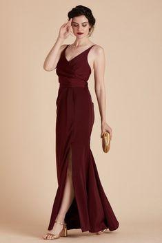 a39e2199fa6 Birdy Grey Bridesmaid Dress Under  100 - Kaelyn Dress in Merlot - Red  Carpet Inspired Bridesmaid
