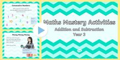 Maths Mastery Activities Year 3 Addition and Subtraction PowerPoint Number Activities, Hands On Activities, Math Addition, Addition And Subtraction, Primary Resources, Teaching Resources, Powerpoint Free, Free Math, Classroom Displays