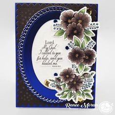 From the talented •@delaneyjanecards Rich tones of chocolate brown and sapphire blue were used to highlight the @joyclairstamps new release Floral Joy. What do you think of these warm chocolate florals? #cards #cardmaking #cardsofinstagram #DelaneyJaneCards #makinghernameahouseholdname #DJC #copiccoloring #copiccolouring #thedailymarker30day #thecollectivecreators #ginamariedesigns To Color, Great Videos, Card Maker, Clear Stamps, Diy Cards, Greeting Cards, Paper Crafts, Joy, Cardmaking