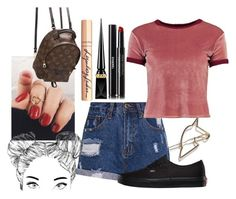 """""""Sem título #199"""" by itsarafa ❤ liked on Polyvore featuring Chanel, Boohoo, Vans, Charlotte Tilbury, Louis Vuitton and Christian Louboutin"""