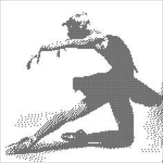 point de croix danseuse ballerine de ballet - cross stitch ballet ballerina dancer