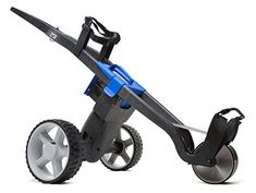 """UK Golf Gear - """"NEW 2016 MODEL"""" GO KART ELECTRIC GOLF TROLLEY LITHIUM 18 HOLE BATTERY & CHARGER BLACK/BLUE"""