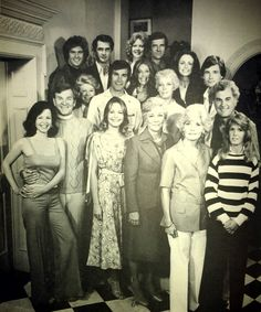 The Young and the Restless 1970's cast photo.  Happy Anniversary YandR #YR40
