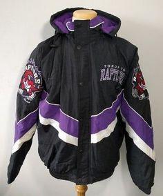 Vintage 90's Toronto Raptors Starter Jacket NBA Men's L 1994 Coat Basketball