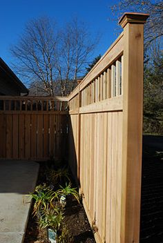 Nice privacy fence with clean lines, includes how-to and fence tips.