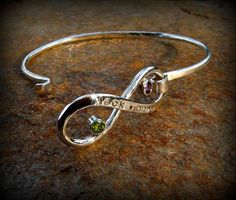 Infinity bangle bracelet personalized infinity by DesignsByDomino, $120.00