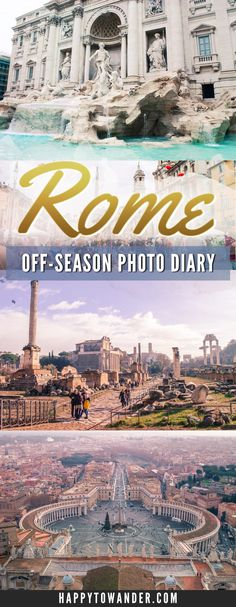 Gorgeous photos of Rome in the off-season - excellent inspiration for your next trip to Rome, featuring amazing must-sees and attractions.