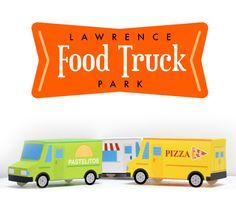 Food Truck Park Logo and Trucks Food Truck Festival, Focus Group, Design Concepts, Retro Design, Festivals, Trucks, Posters, Park, Logo