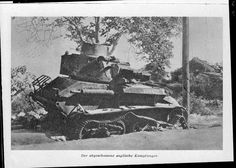 Destroyed British tank at Galatas - Crete 1941, pin by Paolo Marzioli