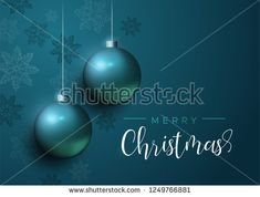 Merry Christmas card, blue xmas bauble ornaments with snowflakes. Luxury holiday balls background for invitation or seasons greeting. Merry Christmas Card, Christmas Bulbs, Xmas Baubles, Luxury Holidays, Royalty Free Photos, Snowflakes, Balls, Invitations, Seasons