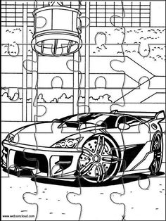Printable jigsaw puzzles to cut out for kids Hot Wheels 9 Coloring Pages