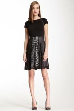 Julia Jordan Sheer & Mesh Flare Dress by Julia Jordan on @HauteLook