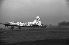 """This is the B-17F """"Spotted Cow"""" Flying Fortress assembly ship of the 384th Bomber Group based at RAF Grafton Underwood in Northamptonshire, England. The assembly ship's mission was to serve as the reference point for hundreds of bombers taking off for a mission to fall into groups for the long flight to the target. As soon as the mass formation would take shape, the assembly ship returned to base. The """"Spotted Cow"""" flew 61 combat missions."""