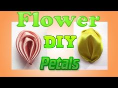 DIY ribbon flowers petals, Канзаши Мастер Класс - YouTube
