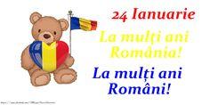 24 Ianuarie La mulți ani România! La mulți ani Români! Romania, Winnie The Pooh, Disney Characters, Fictional Characters, Day, 1 Decembrie, Frases, Winnie The Pooh Ears, Fantasy Characters