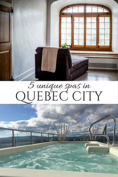 Quebec City, Canada is home to a number of unique spas, including one housed in a former monastery, one in a chateau and another with sweeping city views. via @globeguide