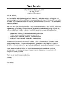 Best Legal Assistant Cover Letter Examples Livecareer Tips For