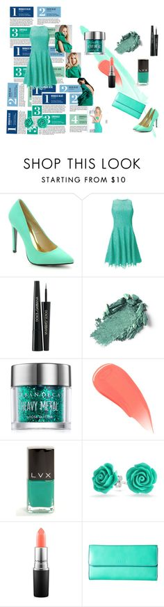 """A tale of turquoise!"" by ash-nz on Polyvore featuring Garance Doré, Cape Robbin, Shoshanna, Dolce&Gabbana, Urban Decay, Burberry, LVX, Bling Jewelry, MAC Cosmetics and Lodis"