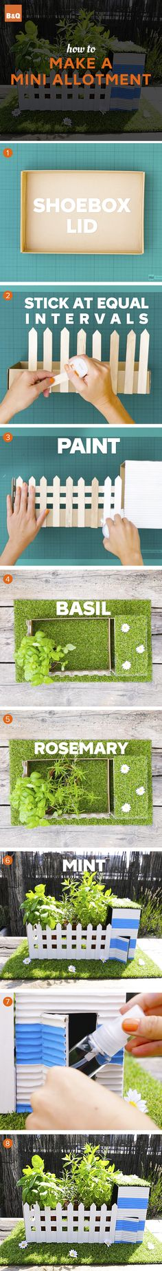Spark the kids' interest in gardening with this mini allotment project. Garden Projects, Craft Projects, Projects To Try, Hobbies And Crafts, Arts And Crafts, Diy Crafts, Art For Kids, Crafts For Kids, Outdoor Learning