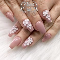 3d Nails, Pink Nails, Cute Nails, Pretty Nails, Pastel Nails, 3d Nail Designs, Acrylic Nail Designs, 3d Flower Nails, Coffin Nails Long