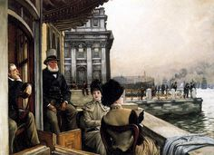The Terrace of the Trafalgar Tavern, Greenwich London, by James Tissot.