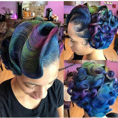 Not sure if it's weave but it's beautiful. I love the colors curls and all