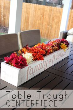 table trough flowere