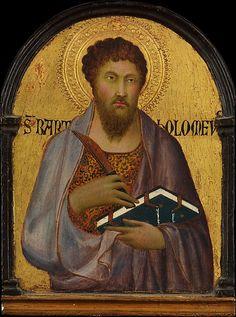 Workshop of Simone Martini, Saint Bartholomew, ca. 1317–19