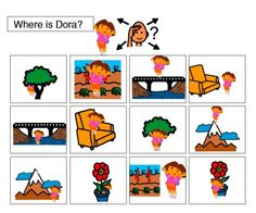 Ideas for Where is Dora? Pinned by SOS Inc. Resources.  Follow all our boards at http://pinterest.com/sostherapy  for therapy resources.