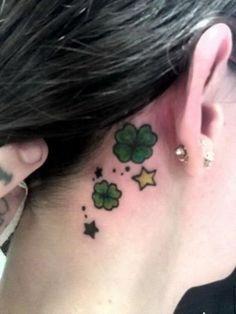 Four Leaf Clover Ear Tattoo