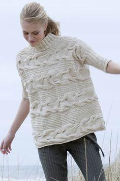 Georgica Cabled Pullover in Tara Tweed