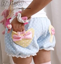 WARM Winter BabyDoll Japan Decora Pastel Polkadot Pumpkin Bubble Bloomer Shorts | eBay