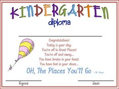 oh the places you'll go pre k graduation - Google Search