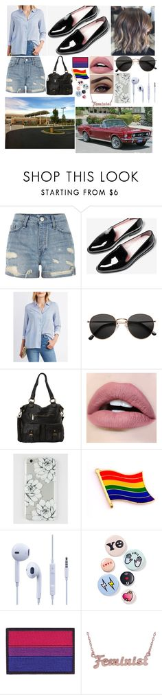 """My BTS Outfit #4"" by lisavelle ❤ liked on Polyvore featuring River Island, Everlane, Charlotte Russe, H&M, Ampere Creations, Bing Bang and me you"