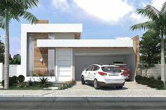 planta de casa com garagem 2 carros