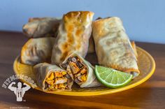 Baked Tex-Mex Egg Rolls by Fit Men Cook