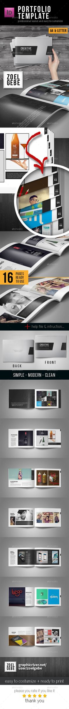 Portfolio Template — InDesign INDD #photography #interior template • Available here → https://graphicriver.net/item/portfolio-template/12759896?ref=pxcr
