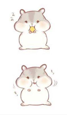 ❥cute hamster more cute animal drawings kawaii, cute cartoon drawings, art drawings, Cute Cartoon Drawings, Cute Cartoon Animals, Easy Drawings, Cute Animal Drawings Kawaii, Adorable Drawings, Cute Animals To Draw, Simple Animal Drawings, Pencil Drawings, Hamster Cartoon