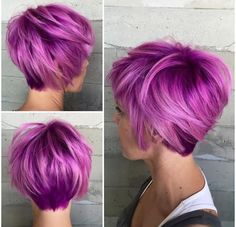 Hair colors are generally perfect way to update your look and style, you create definitely new and fresh look with a brand new hair color idea that'll flatter. Short Hairstyles For Thick Hair, Haircut For Thick Hair, Haircut And Color, Wavy Hair, New Hair, Cool Hairstyles, Short Hair Styles, Short Haircuts, Short Hair Cuts For Women With Thick