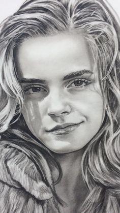 An art 😍 Harry Potter Portraits, Harry Potter Artwork, Harry Potter Drawings, Harry Potter Pictures, Harry Potter Wallpaper, Harry Potter Cast, Harry Potter Characters, Portrait Au Crayon, Pencil Portrait