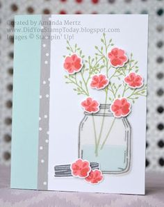 All Occasion Jar of Flowers - Stampin' Up! Jar of Love