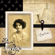 Free Vintage Scrapbook Layouts   Home >> KatieMac's Home Page >> KatieMac's Scrapbooks >> Vintage ...