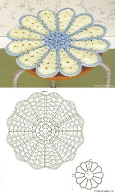 Crochet Heart Motif - Free Crochet Diagram - Then just add your…pretty crochet heart by Stoeps; i like the miniature flower budsDiscover thousands of images about pretty crochet heartPatrones Crochet Corazones San Valentin - Crochet and KnitDelicad Crochet Mandala Pattern, Crochet Flower Patterns, Crochet Diagram, Crochet Chart, Crochet Squares, Crochet Designs, Crochet Flowers, Crochet Stitches, Quick Crochet